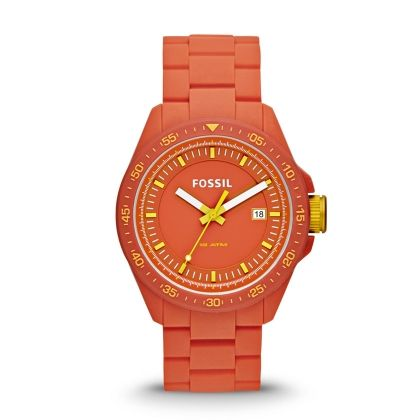 Decker Three Hand Silicone Watch - Orange