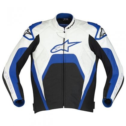 Alpinestars Tech 1-R Leather Jacket - White/Blue