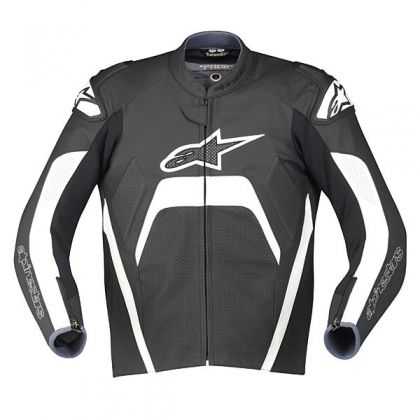 Alpinestars Tech 1-R Leather Jacket - Black/White